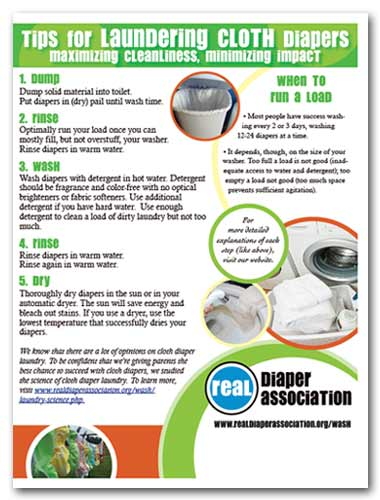 Cloth Diaper Laundry Handout from RDA