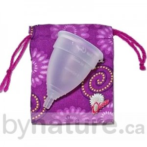 Menstrual cup with bag