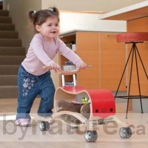 Wishbone flip wooden ride-on toy