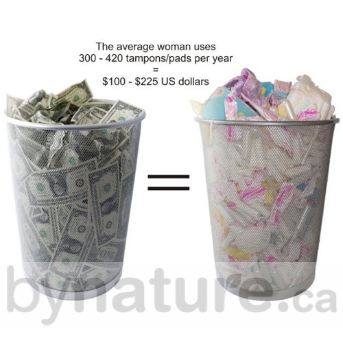 Garbage from tampons wastes money