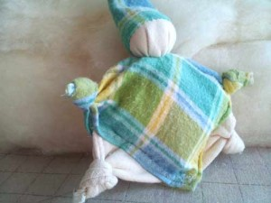 Finished knotted doll