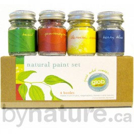 Glob natural paint for children in 4 vibrant colours