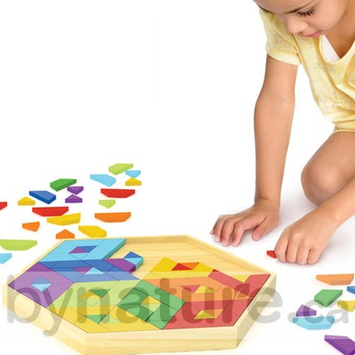 Mosaic wooden puzzle gift for child