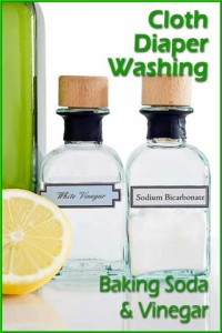 Using baking soda and vinegar to wash cloth diapers