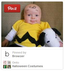 Charlie Brown costume for a baby