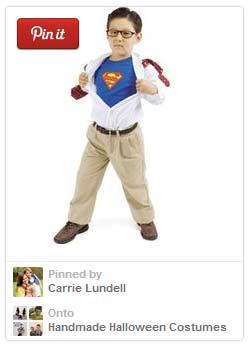 Super easy Super Man Halloween costume for kids