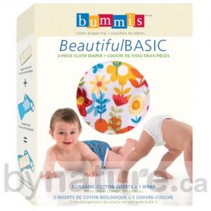 Bummis Beautiful Basic cloth diaper package