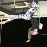 Teen doing aerial dance