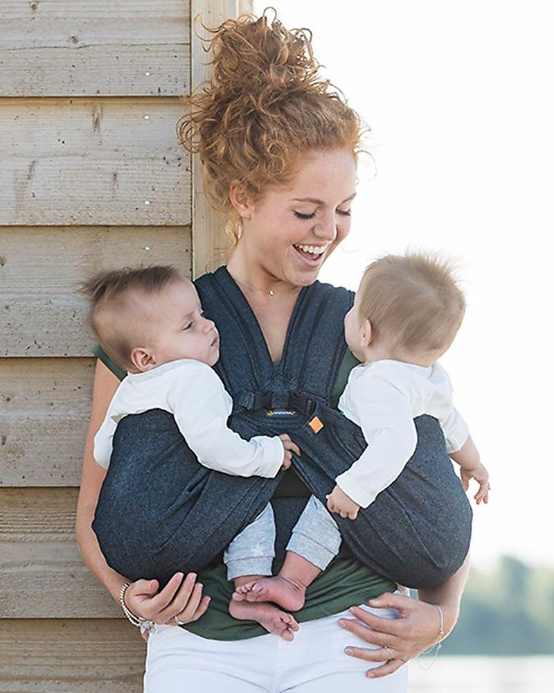 Moby Wrap twin baby carrier