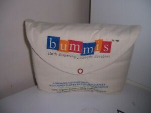 Bummis Organic Cotton Prefold Diapers Kit