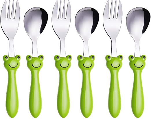 Frog theme stainless steel baby dish set