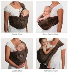 Upmama baby sling in chocolate brown