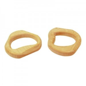 Natural wood baby teething toy