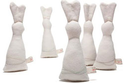 Organic Rabbit Rattle by babies