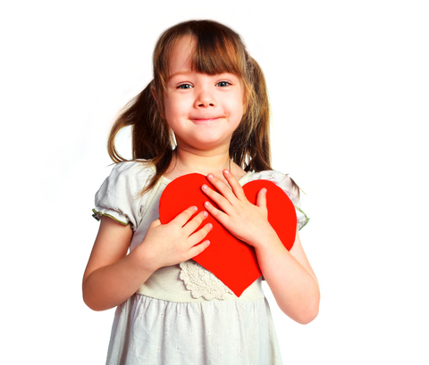 Little Girl with Valentine