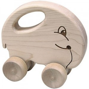 Elephant wooden roll toy