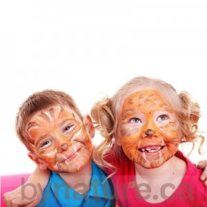 Children with animal facepaint