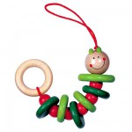 Haba Klapperwurm wooden rattle and chew toy for baby