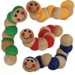 Wooden worms baby toys